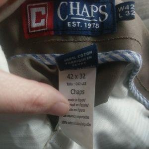 42x32 Chaps tan slacks EUC